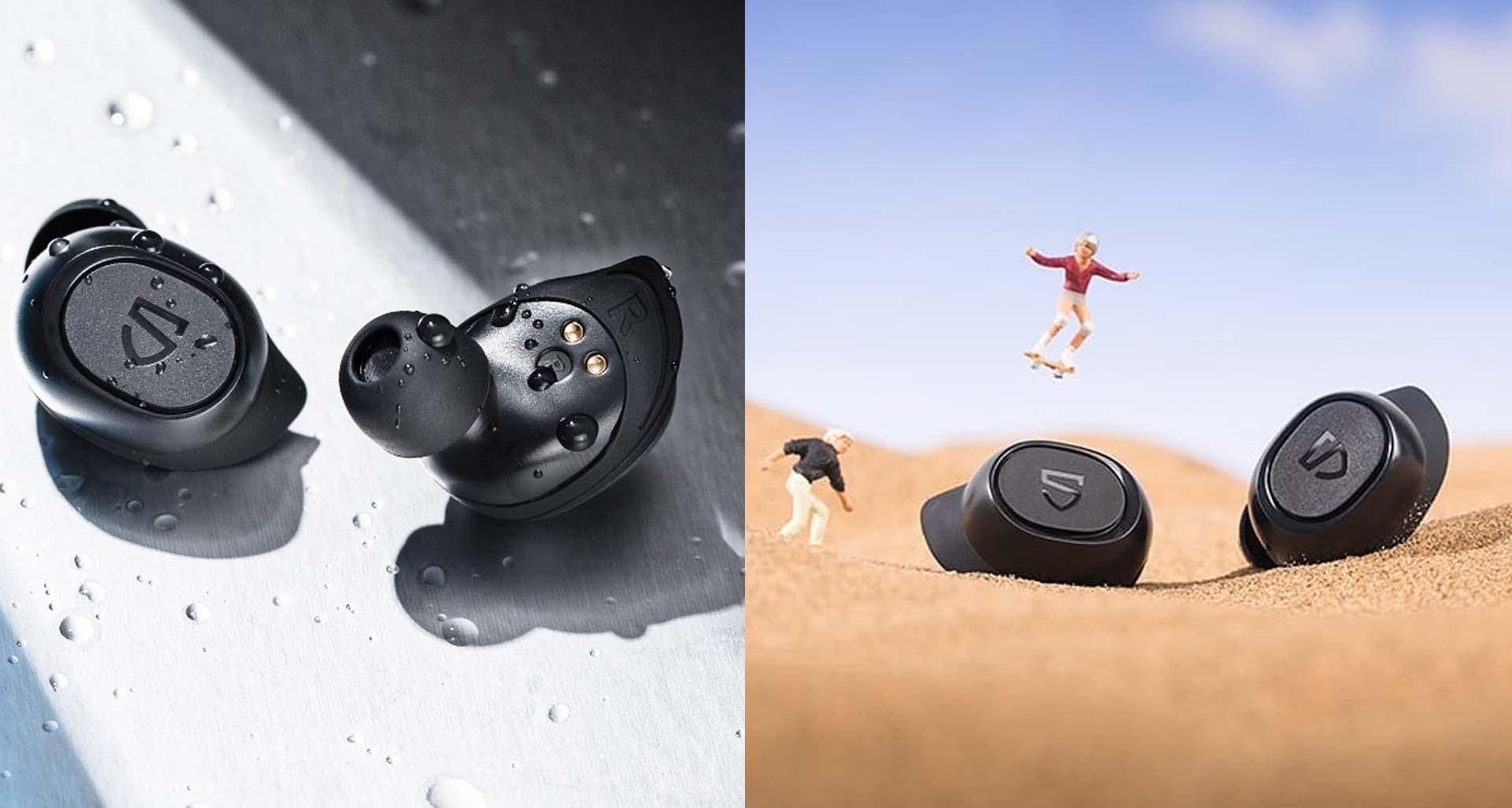 Khả năng chống nước vượt trội chuẩn IPX 7 của tai nghe Soundpeats Truefree 2