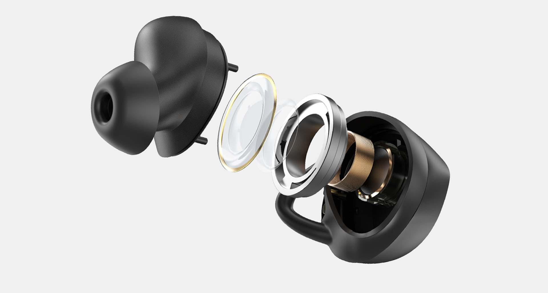 Trình điều khiển graphene 6mm trên tai nghe không dây soundpeats trueshift 2