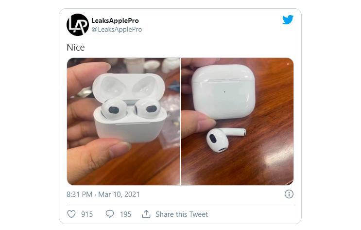 tai nghe không dây AirPods 3 mới