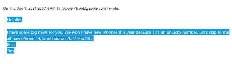 iphone 13 sẽ không được trình làng