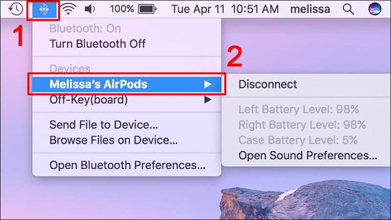cách kết nối sử dụng tai nghe Bluetooth với MacBook