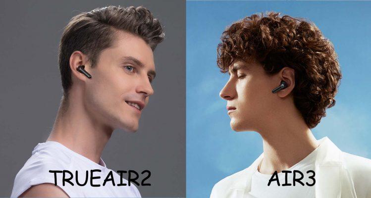 tai nghe không dây air3 và trueair2