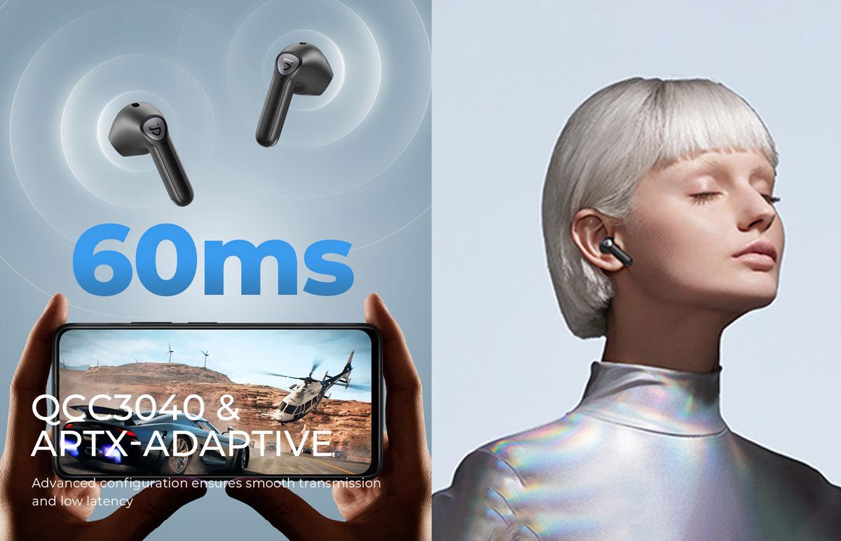 Tai nghe không dây Soundpeats Air 3 với chế độ Game Mode
